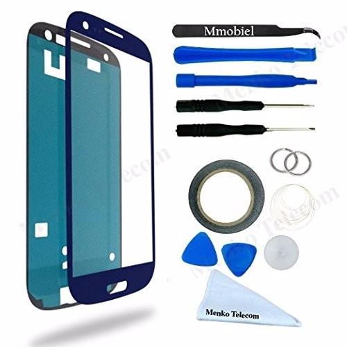 For Samsung Galaxy S3 i9300 i9301 i9305 Display Touchscreen replacement kit 12 pieces incl. tools / pre cut Sticker MMOBIEL