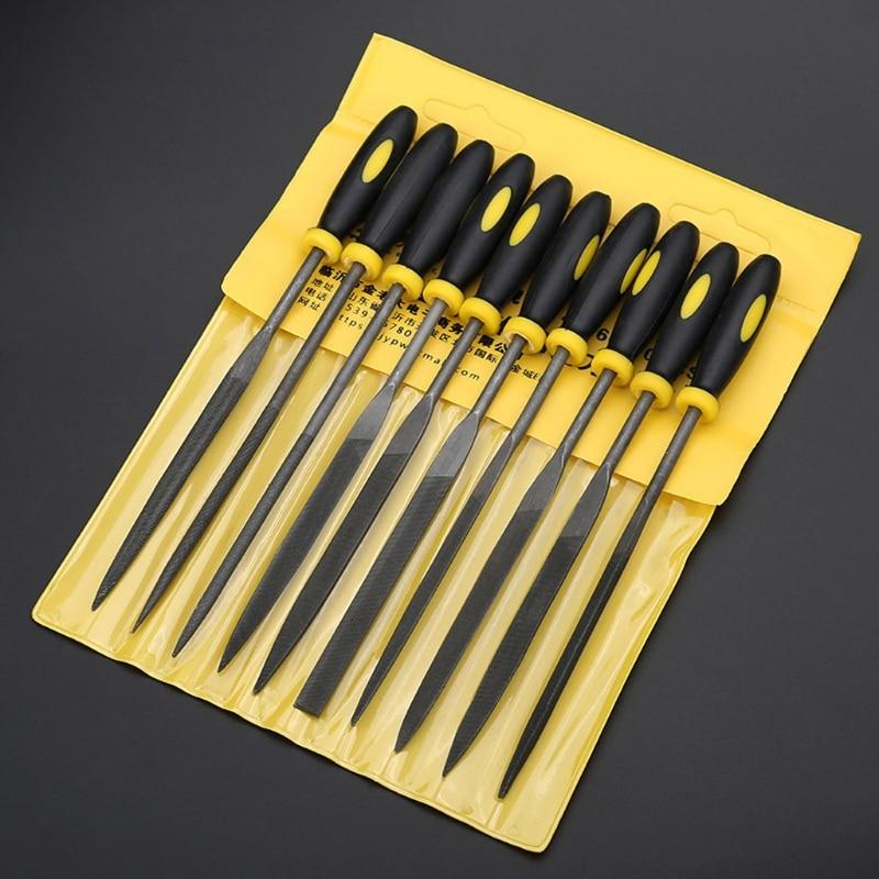 Dateien Handwerkzeuge 10 Pcs Nadel Datei Set Für Juwelier Holz Carving Handwerk Metall Glas Stein 3 Größen Lsd Werkzeug Qiang Offensichtlicher Effekt