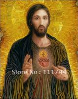 Wall art modern jesus christ oil painting Immaculate Heart of Mary Portrait Men High quality 100% handmade