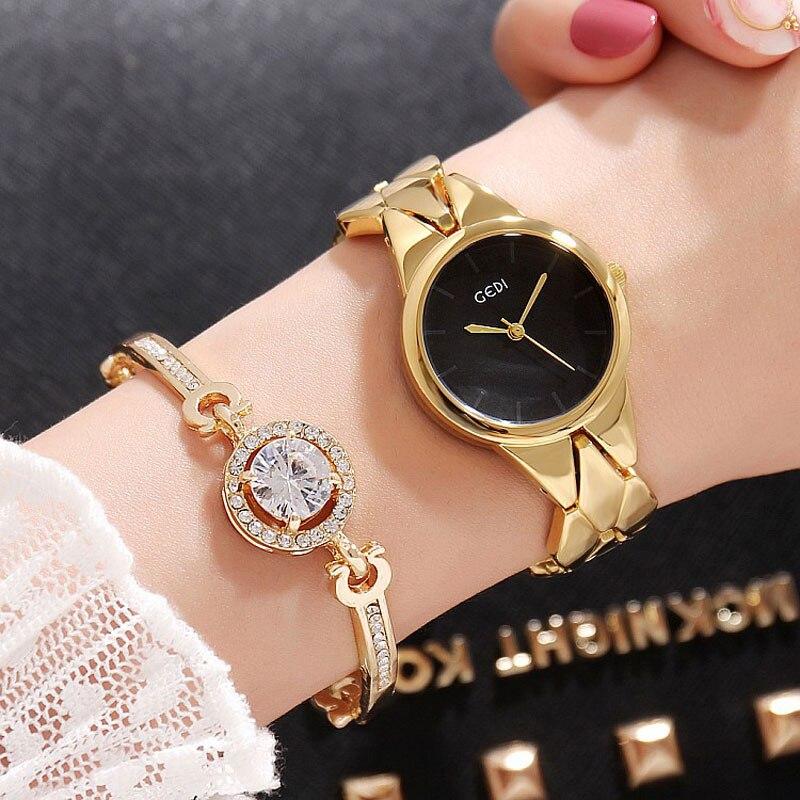7e5dfd2968d Pulseira Relógios das Mulheres Mulheres de Luxo 2 pc Set 2017 Assistir