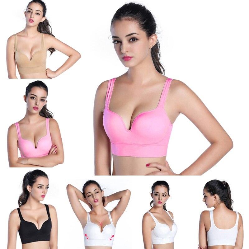 2016 नायलॉन Dled Kleding स्तनपान कपड़े मातृत्व ब्रा नई महिलाओं निर्बाध गद्देदार फिटनेस योग खेल टैंक टॉप दौड़ने