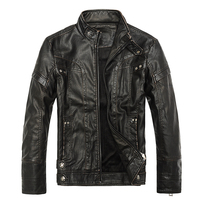 Men S Leather Jackets Spring Autumn High Quality Soft Comfortable Coat Male Casual Warm Stand Collar
