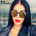 Trioo espejo polarizado gafas de sol de mujer de marca de lujo classic diseñador shades oculos lentes de color gafas de sol de moda femenina