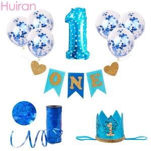 Image 5 - 1st מסיבת יום הולדת דקור ילדים 1 2 3 יום הולדת שמח באנר 2 1 אחד שנה יום הולדת מסיבת ראשון יום הולדת ילד ילדה תינוק מקלחת דקור