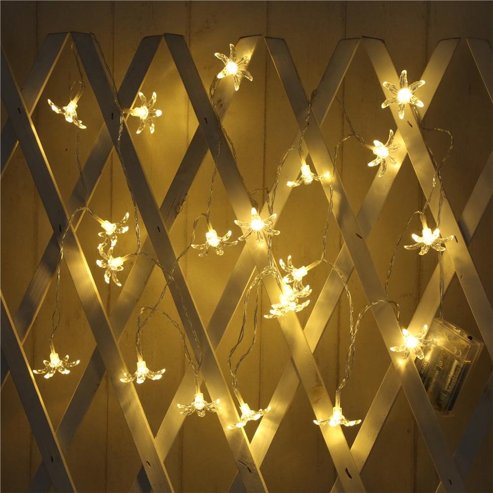 Fairy Lightsfairy LightsFlower String Light 1.5M-10M,10L/20L/40L/96L,3AA/31V US/EU Room Weding Party Wall Window Home Decoration Children Night Lamp