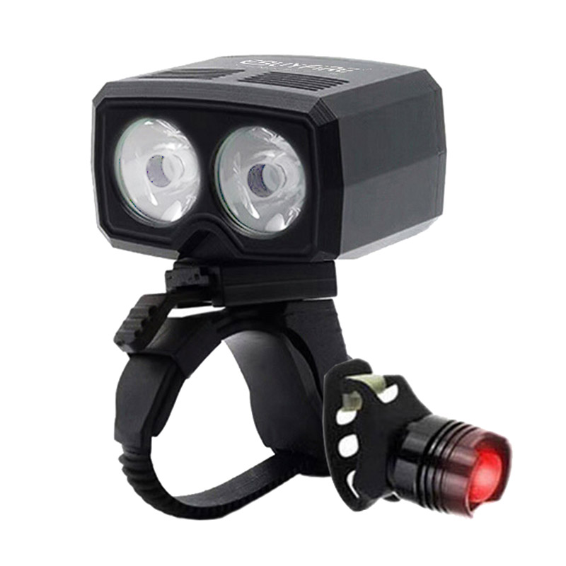 LED 5000lm USB Rechargeable Bike Lamp 2x XM-L T6 Front Handlebar Bike Light Built-in Battery 5 Modes bicycle