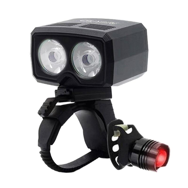 LED 5000lm USB Aufladbare Lampe Fahrrad 2x XM-L T6 Vorne Lenker Bike Licht Eingebaute Batterie 5 Modi fahrrad