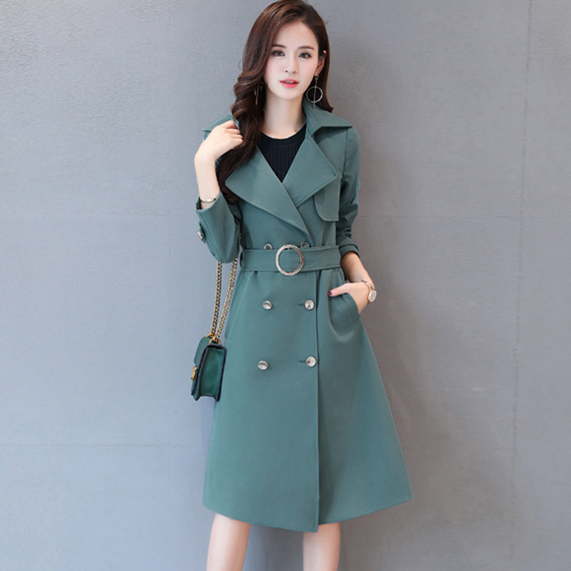 Plus size 5XL Windbreaker Female Spring Autumn New Casual Chic Loose Ladies Long Outerwear Trench Coat