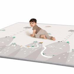 Двусторонний детский коврик для ползания 200x180x1 см, водонепроницаемый нескользящий напольный игровой коврик, игровой коврик, ударопрочная п...