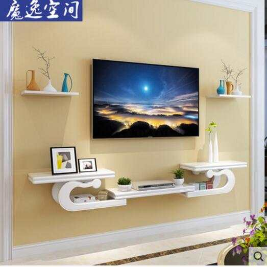Us 2790 Creative European Wall Hanging Tv Cabinet Set Top Box Shelf Living Room Tv Wall Shelf Partition Decoration In Storage Holders Racks From