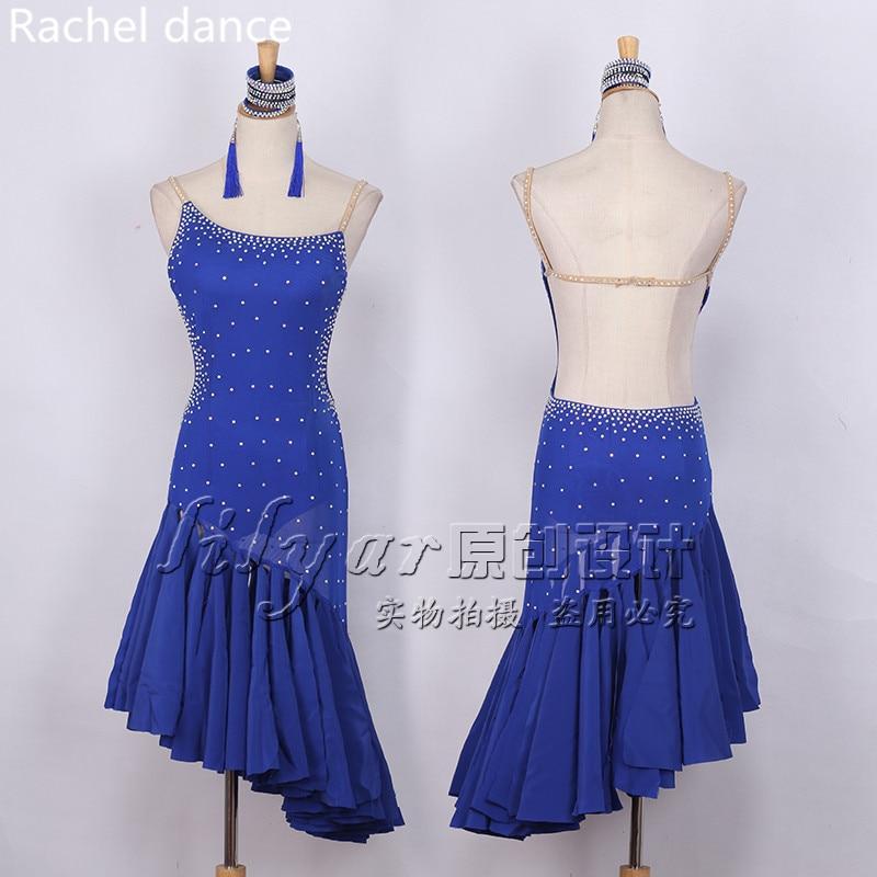 Latin Dance Dresses Women High Quality Customized Rumba Samba Dancing Skirt Lady Latin Competition Dance Dress