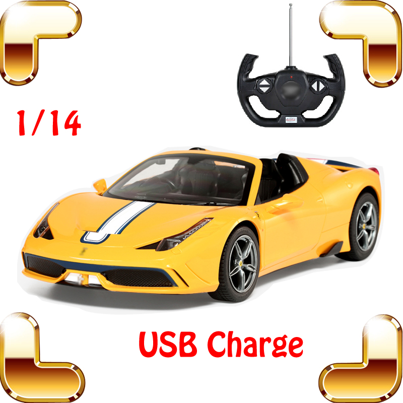 Christmas Gift 458 Speciale A 1/14 RC Racing Style Car Electrical Toys USB Charge Model Remote Vehicle Boy Favour Machine on stock new super thomas small train electric track car boy puzzle large car racing for children s christmas gift kids toys