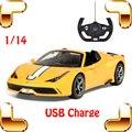 Regalo de navidad 458 Speciale A 1/14 RC Racing Style Juguetes Eléctricos Del Coche de Carga USB Remoto Modelo de Vehículo Chico favor de La Máquina
