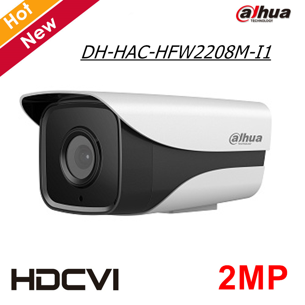 где купить 2MP Dahua HDCVI Camera DH-HAC-HFW2208M-I1 HD 1080P Cmos IR distance 50M CCTV Camera Starlight level Security Camera for Outdoor дешево