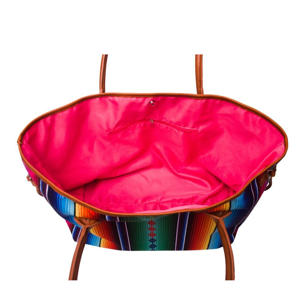 Serape Fourre Garnitures ciel Pu Rayures Multi tout Dom1086 en Femmes Cordon Toile Avec Arc Design Garnitures Gros Fond ECqUn