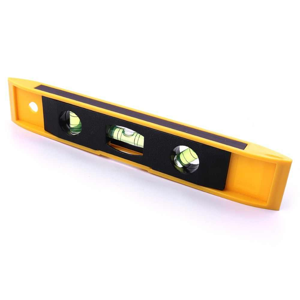 High Accurate 230mm 9'' Ruler Spirit Level Bubble Vertical Magnet ABS Shell With 3 Bubble Level Measuring Instrument Tool