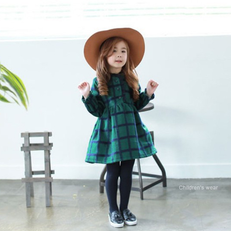 little girls dresses long sleeves clothes 2017 autumn winter baby plaid dress for teenage children clothing 3-7 8-10 years kids children s spring and autumn girls bow plaid child children s cotton long sleeved dress baby girl clothes 2 3 4 5 6 7 years