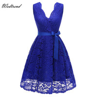 Wedtrend Asymmetrical Neck Lace Elegant Women S Dress Sashes Dress Female New Arrival Free Delivery Cheaps