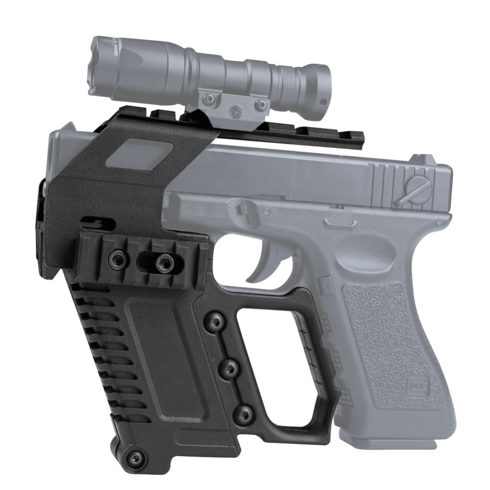 Tactical Glock Series Pistol Carbine Kit Quick Reload Rail Base Loading Device For Glock G17 G18 G19 Series Hunting