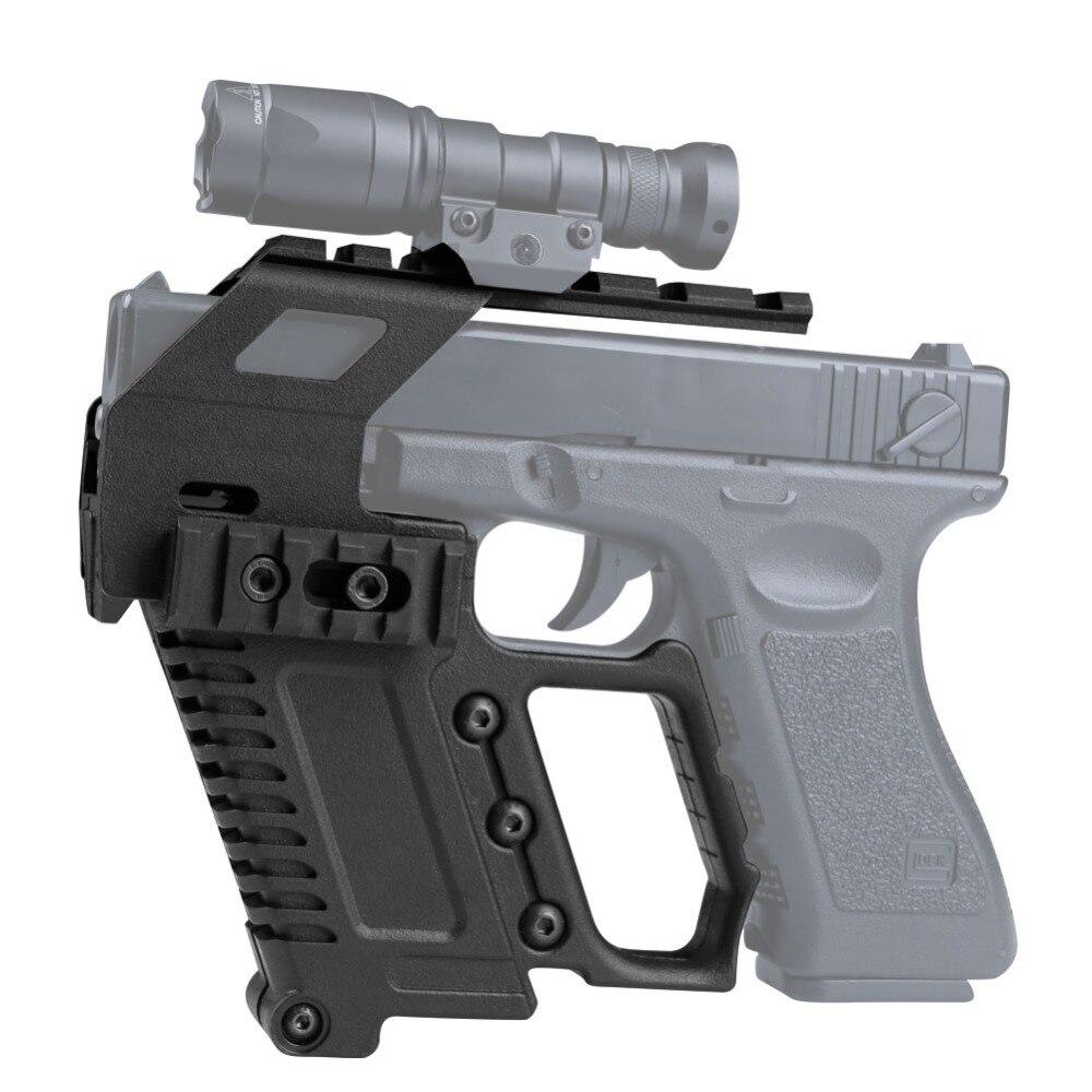 Táctico Glock serie pistola carabina Kit rápido recargar Base dispositivo de carga para Glock G17 G18 G19 serie de caza