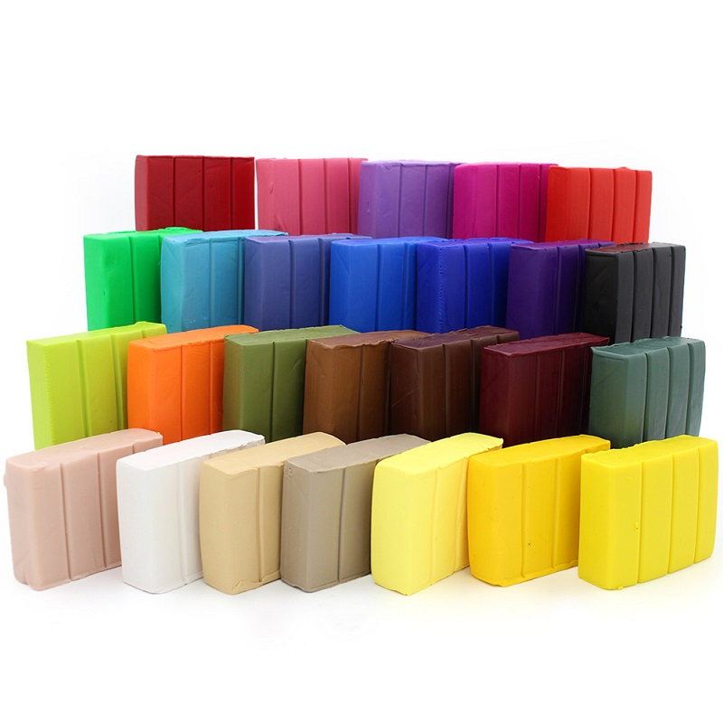 1-26Pcs 57g/2oz Professional Soft Clay Colorful Bake Polymer Clay Pottery Sculpting Ceramic Colorful 5.8CMx4.5CMx1.8CM 26Colors