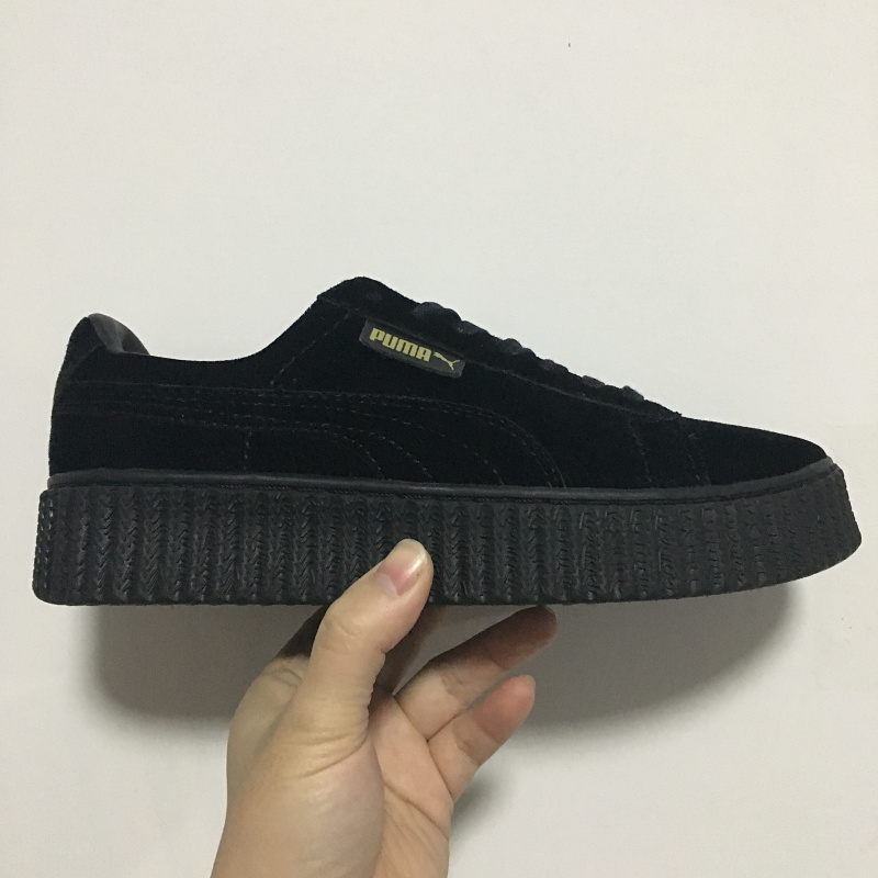 best loved 0061c ad25b Puma shoes puma Velvet thick soled platform shoes Shoes for ...