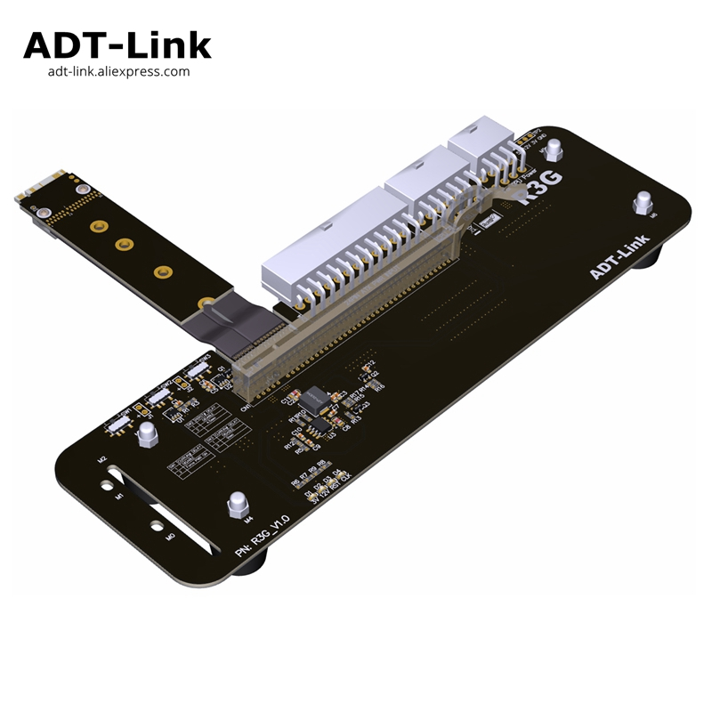 PCIe x16 à M.2 NVMe câble adaptateur d'extension 16x câbles pci-express pour eGPU NUC/ITX/STX/PC portable