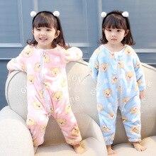 Осенне-зимняя одежда для девочек; Мягкая Детская домашняя одежда с плюшевой расцветкой для девочек