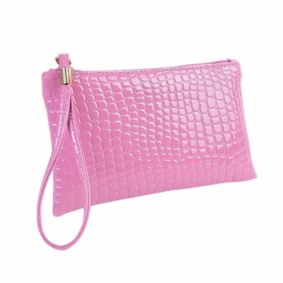 New Style Women Crocodile Leather Clutch Handbags Porte Monnaie Purse Female Original Leather billetera clutch female wallet S