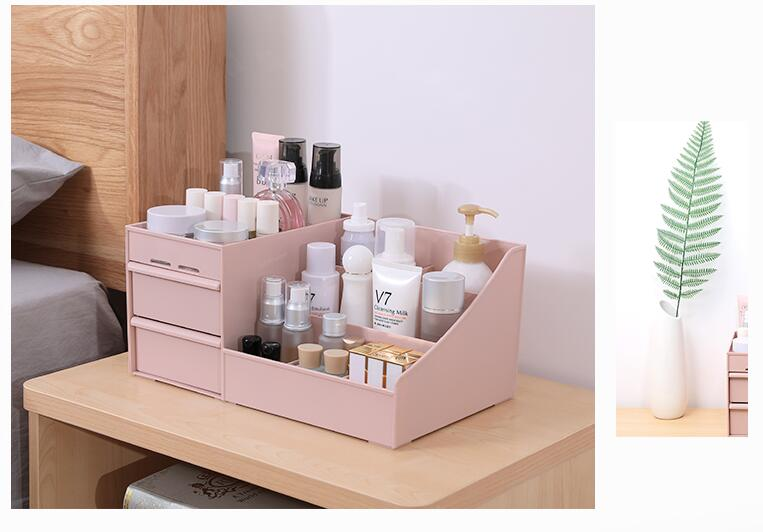 Makeup Organizer Box For Cosmetics Desk Office Storage Skin Care Case Lipstick Case Sundries Make Up Jewelry Organizer Box