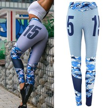 High Waist Stretched Print Sports Trousers Women Running Tights Ladies Fitness Leggings Yoga Pants Gym Clothes