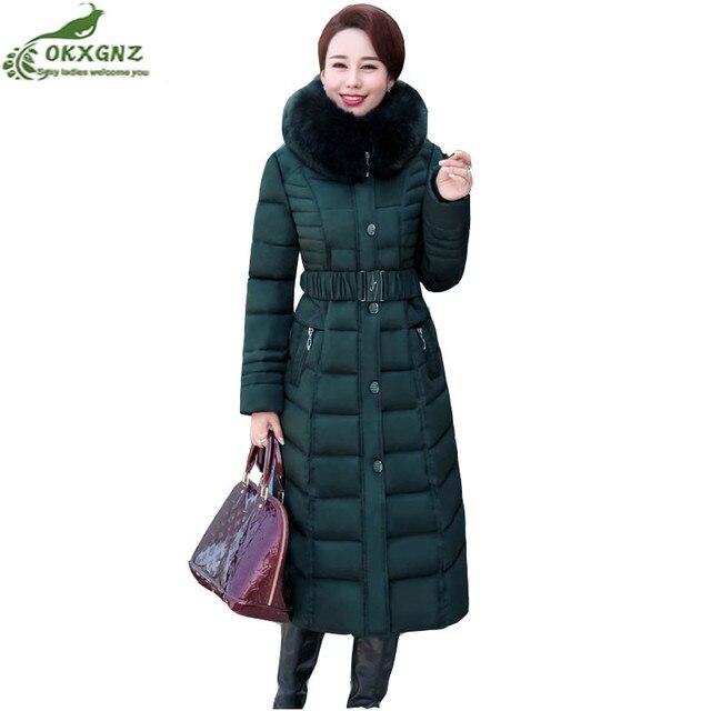 Automne hiver nouveau coton vers le bas Survêtement femmes longue section  Plus La taille loisirs veste d26bb9ab4c7