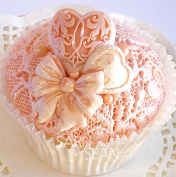 M0816 flores de tela de encaje línea fondant Cake mold chocolate para la cocina