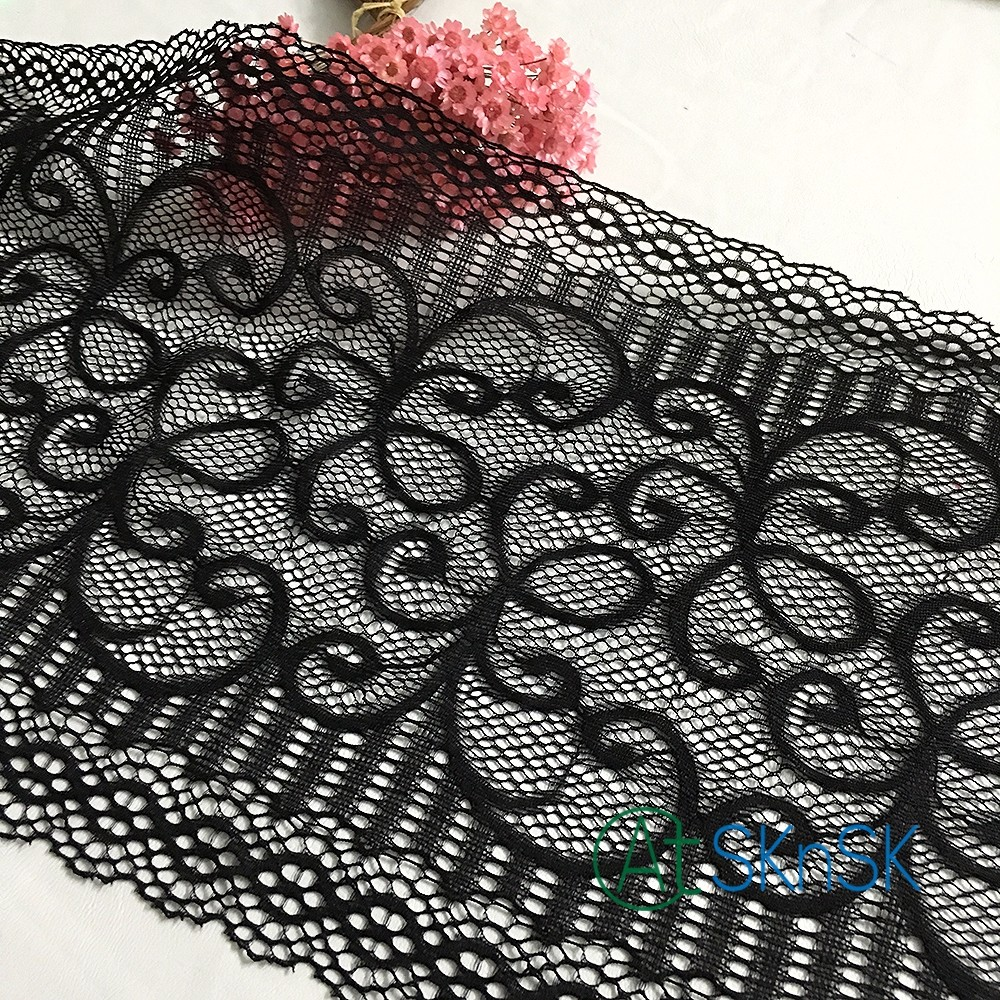 Latest arrival 50yards/lot White black exquisite eyelash lace trim embroidery lace fabric diy width 21cm dress clothing accessor