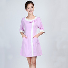 2 Color Medical Uniforms  Nursing Scrubs Clothes for Women Short Sleeve Doctor Clothing Uniformes Hospital Women Work Dress