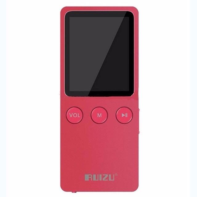 """1.8 """"RUIZU Ultrafino 8 GB Hifi Lossless Reproductor de MP3 200 Horas con FM Reloj color de Rosa lindo regalo perfecto"""