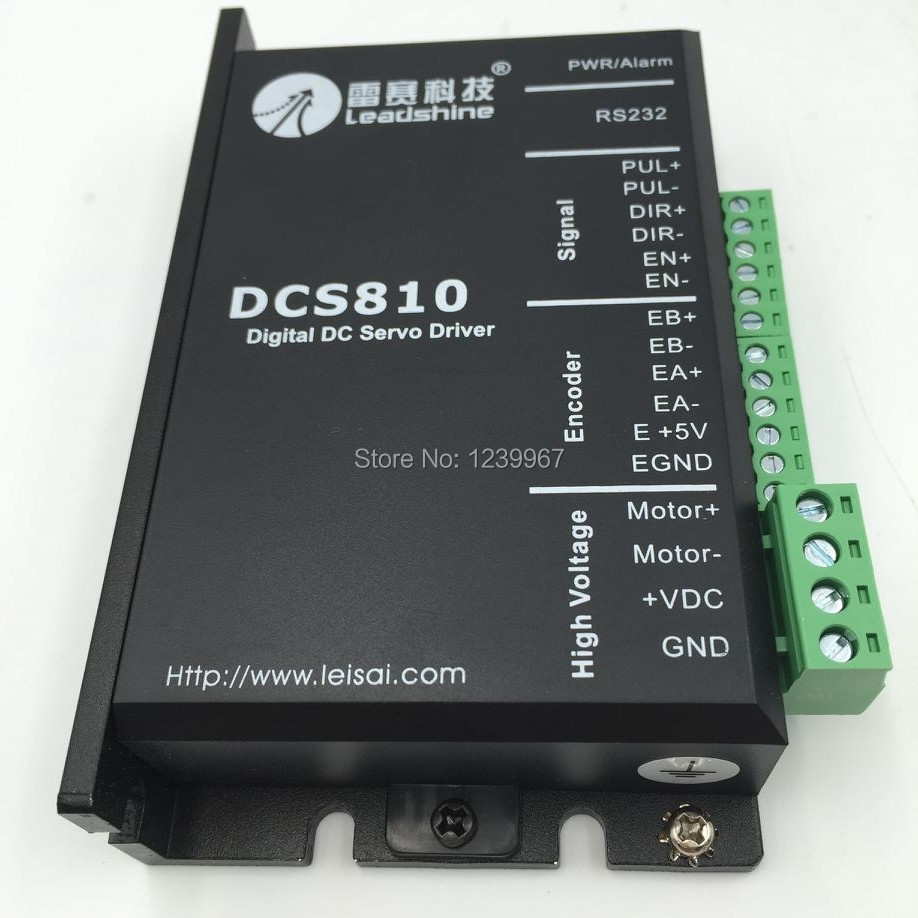 New Original Leadshine DCS810 Brushed DSP Digital DC Servo Drive 18-80VDC 0-20A to Drive 50w 80w 120w Brushed DC Servo Motors yaskawa servo drive sgdm 01ada brand new in original packaging