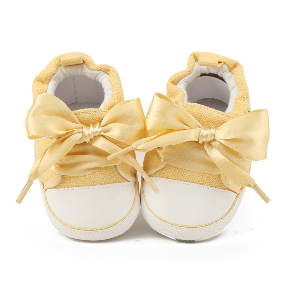 Delebao Lace Lace-up Baby Shoes Autumn/Spring Cotton Soft Sole Toddler Shoes For 0-18 Months Newborn First Walkers Wholesale