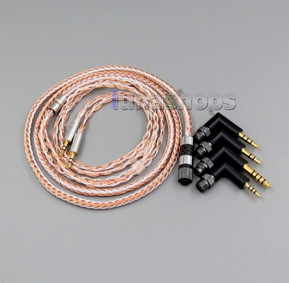 LN006227 prise 4 en 1 16 cœurs OCC + câble plaqué argent pur pour casque Hifiman HE560 HE-350 HE1000 V2