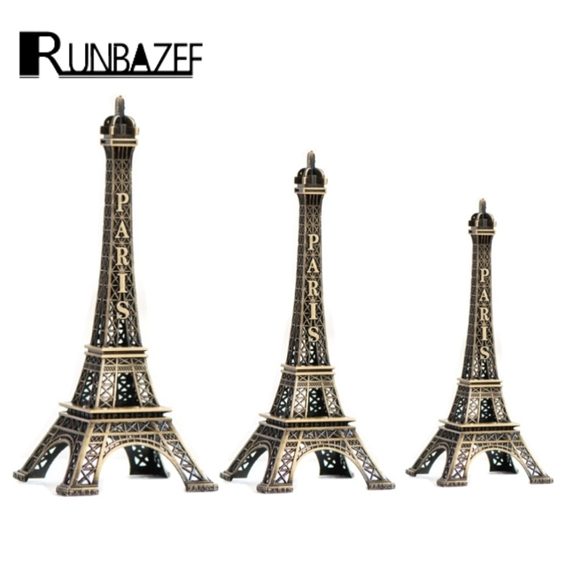 Runbazef Paris Style Eiffel Tower Home Decor Decoration Accessories Artesanato Miniaturas Kawaii Craft Figurine