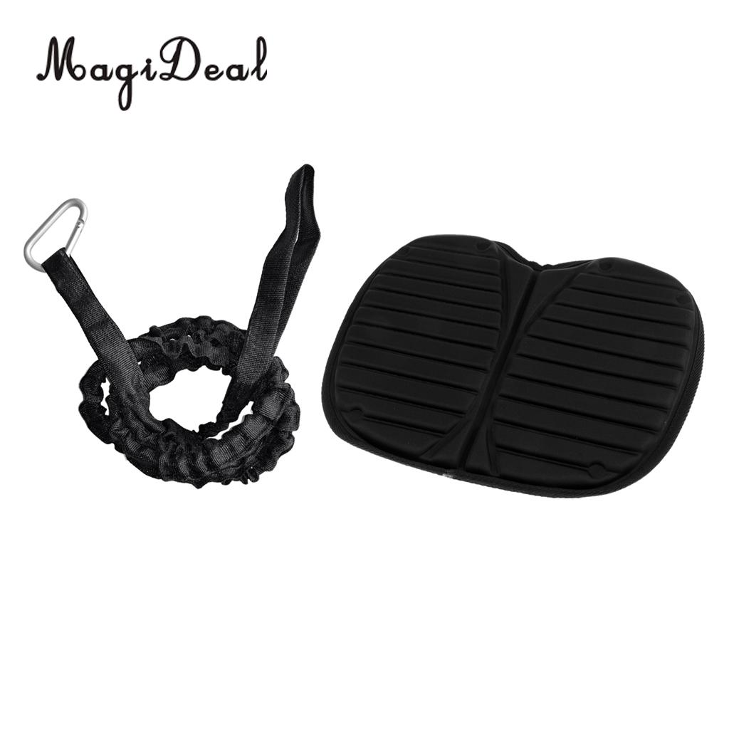 MagiDeal Kayak Canoe Seat Inflatable Cushion Boat Seat Pad with Coiled Paddle Leash for  ...