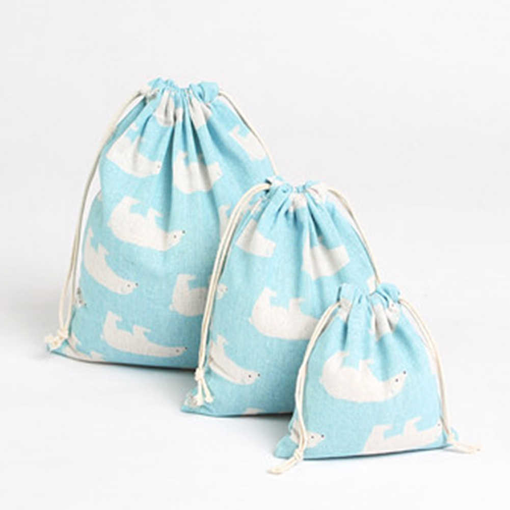 2020 Fashion Vrouwen Katoen Trekkoord Boodschappentas Unisex Travel Shopper Tassen Eco Herbruikbare Vouwen Kruidenier Opbergtas