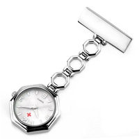 XG299 Pocket Quartz Watch Doctor Pendant Red Cross Brooch Nurses Watch Fob Hanging Medical Pocket Watch Relogio Women' Watch