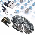 HOT Sale 2M USB Data Fast Charger Braided Sync Cable Cord For Android Smartphone Black A458