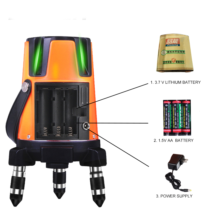 3Lines 4points Laser Level Self-Leveling 360 Horizontal Vertical Cross Super Green Beam slash functional Line laser a8827d 360 degree self leveling 3 lines 3 points rotary horizontal vertical red laser levels cross laser line laser highlights