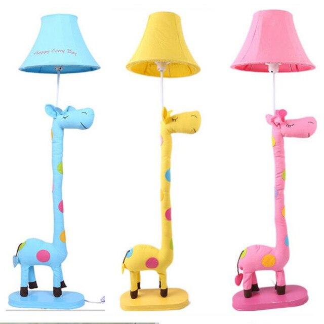 Handmade Cottage Lovely Cute Fabric 3 Colors Giraffe Animal Led E27 Floor Lamp for Children's Room Kid's Present AC 80-265V 2182