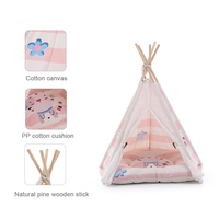 Durable Breathable Pet Dog Cat Mat Bed Teepee Tent Dog Tent Simple Native Beds Pet Teepee Tent House With Cushion