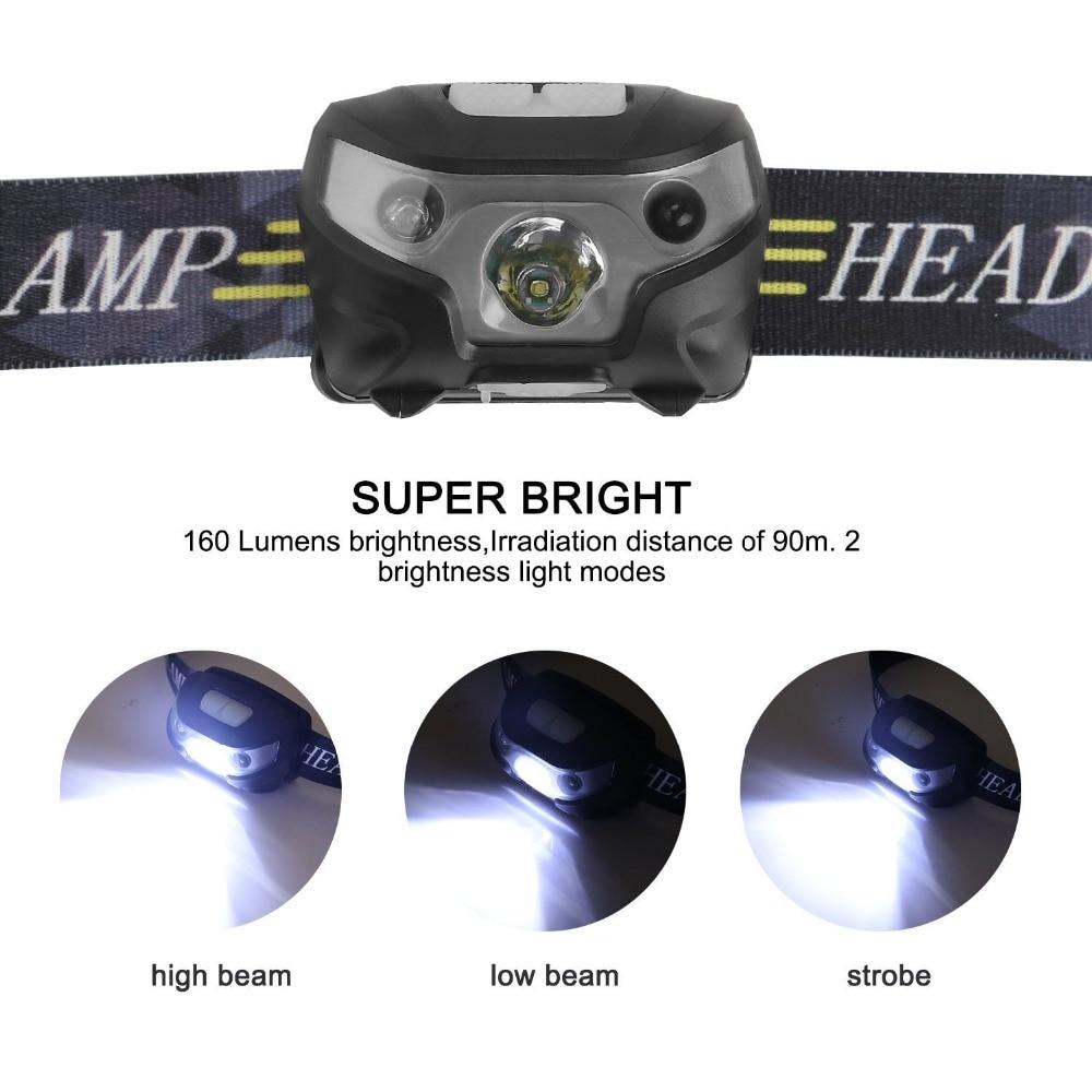 Image 3 - 新ミニ充電式 Led ヘッドランプヘッドライトボディモーションセンサー Led ヘッドランプキャンプ懐中電灯を実行するための防水ライト    グループ上の ライト