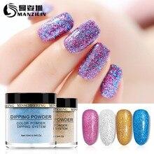 10g Nail Art Dip Powder Colorful Pigment 3.2*3cm Bottle Design for Nails Rub Manicure Glitter NHD