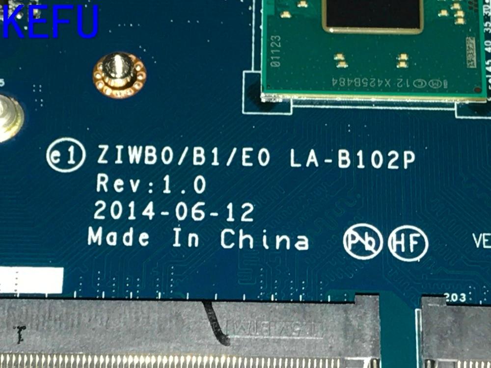 KEFU 100% NOUVEAU LIVRAISON GRATUITE ZIWB0/B1/E0 LA-B102P Mère d'ordinateur portable Pour LENOVO B50-30 NOTEBOOK PC (pas d'empreintes digitales connecteur)